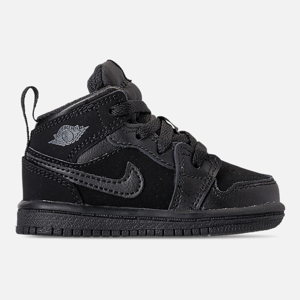 92fb0b9b65dd Right view of Kids  Toddler Air Jordan 1 Mid Retro Basketball Shoes in Black