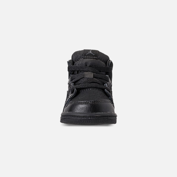 timeless design 6f713 31ddf Front view of Kids  Toddler Air Jordan 1 Mid Retro Basketball Shoes in Black