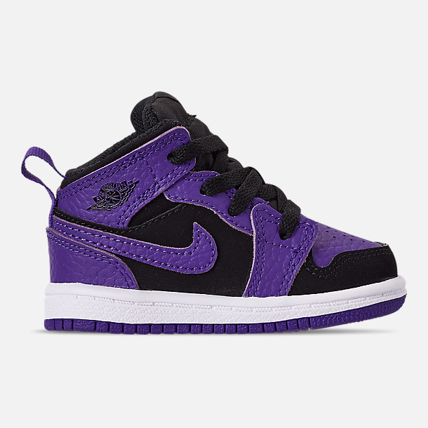 Right view of Kids' Toddler Air Jordan 1 Mid Retro Basketball Shoes