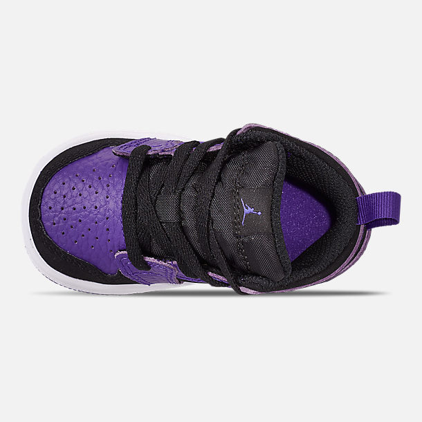 Top view of Kids  Toddler Air Jordan 1 Mid Retro Basketball Shoes 1658e484f