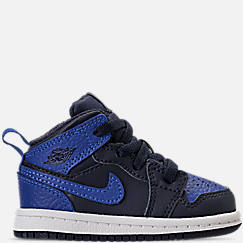 Kids' Toddler Air Jordan Retro 1 Mid Basketball Shoes