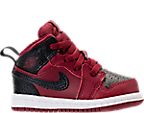 Boys' Toddler Air Jordan Retro 1 Mid Basketball Shoes