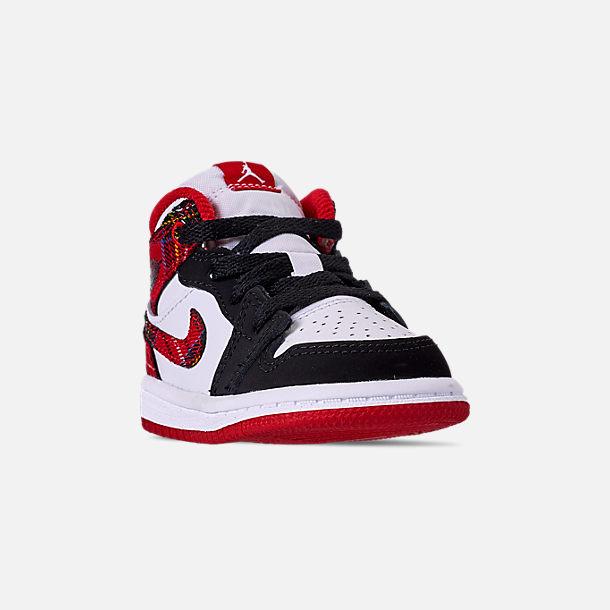 27e4bd9545 Three Quarter view of Kids' Toddler Air Jordan 1 Mid Retro Basketball Shoes