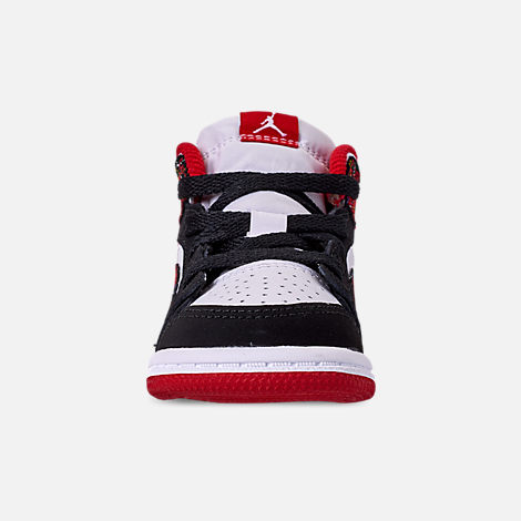 buy popular 5a141 0ad9a Front view of Kids  Toddler Air Jordan 1 Mid Retro Basketball Shoes
