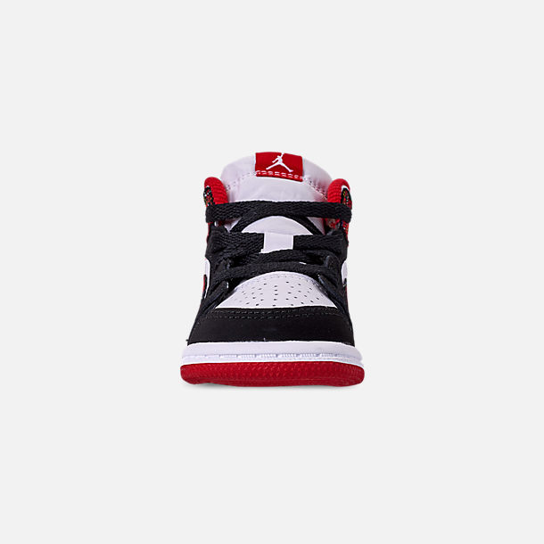 100% authentic c0edc 704a1 Front view of Kids' Toddler Air Jordan 1 Mid Retro Basketball Shoes