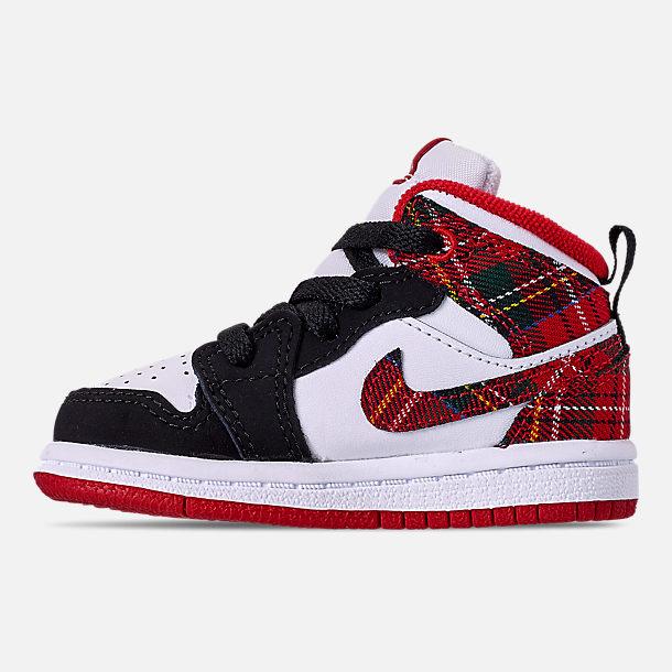 detailed look 0d8b0 75e8e Left view of Kids  Toddler Air Jordan 1 Mid Retro Basketball Shoes