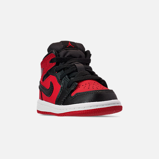 sports shoes 83f54 1f52a Three Quarter view of Kids  Toddler Air Jordan 1 Mid Retro Basketball Shoes  in Gym