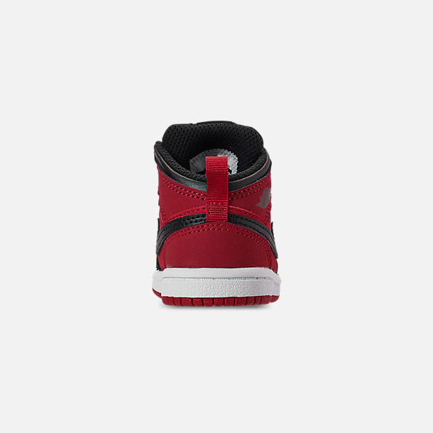 promo code 9d4d5 0976a Back view of Kids  Toddler Air Jordan 1 Mid Retro Basketball Shoes in Gym  Red