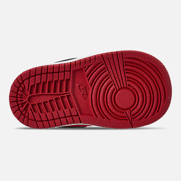 get cheap 4a36b b74e0 Bottom view of Kids  Toddler Air Jordan 1 Mid Retro Basketball Shoes in Gym  Red