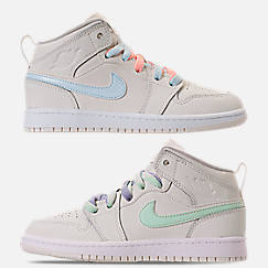 Girls' Little Kids' Air Jordan 1 Mid Basketball Shoes