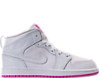 Girls' Preschool Jordan 1 Mid Basketball Shoes