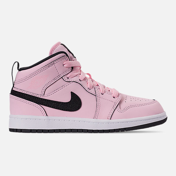 pretty nice 5638f b0e82 Right view of Girls  Little Kids  Air Jordan 1 Mid Casual Shoes in Pink