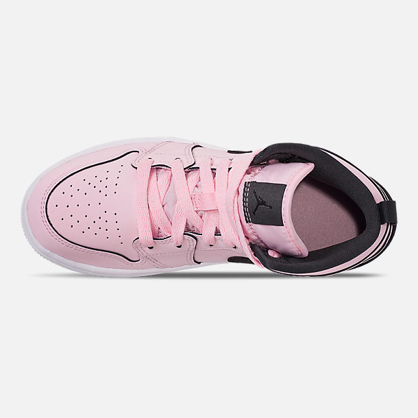 3a5507d68c19 Top view of Girls  Little Kids  Air Jordan 1 Mid Casual Shoes in Pink