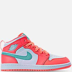 Girls' Preschool Air Jordan 1 Mid Basketball Shoes