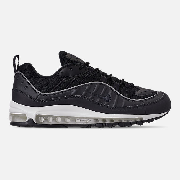 Right view of Men's Nike Air Max 98 Casual Shoes in Oil Grey/Grey/Black Summit
