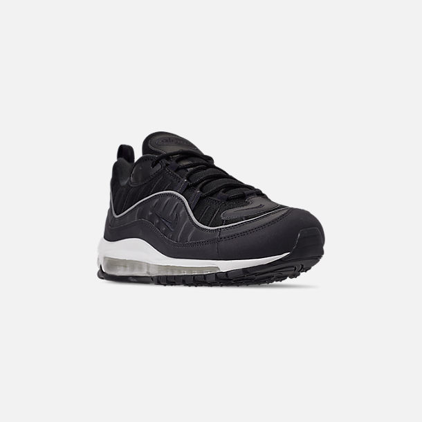 Three Quarter view of Men's Nike Air Max 98 Casual Shoes in Oil Grey/Grey/Black Summit