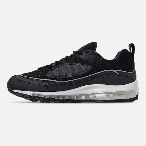 Left view of Men's Nike Air Max 98 Casual Shoes in Oil Grey/Grey/Black Summit