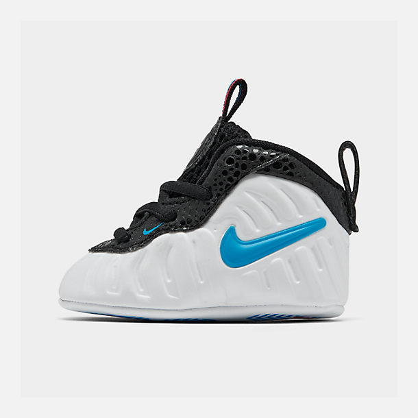 Right view of Infant Nike Lil' Posite Pro Crib Booties in White/Blue Hero/Red Orbit/Indigo Fog