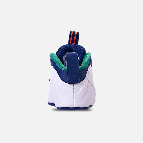 Back view of Boys' Infant Nike Lil' Posite Pro Crib Booties in Gym Blue/White/Cone/Neptune Green