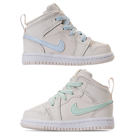 GIRLS' TODDLER AIR JORDAN 1 MID BASKETBALL SHOES, WHITE