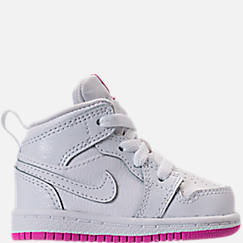 Girls' Toddler Air Jordan 1 Mid Basketball Shoes