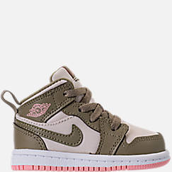 Girls' Toddler Jordan 1 Mid Basketball Shoes