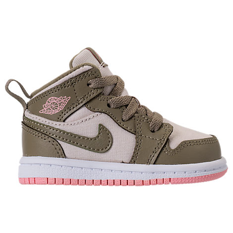 GIRLS' TODDLER AIR JORDAN 1 MID BASKETBALL SHOES, GREEN