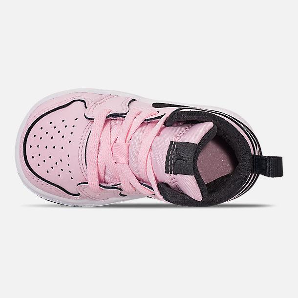 8800ada9afb Top view of Girls' Toddler Air Jordan 1 Mid Casual Shoes in Pink Foam/