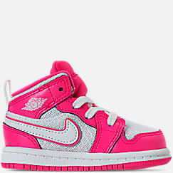 Girls' Toddler Air Jordan 1 Mid Casual Shoes