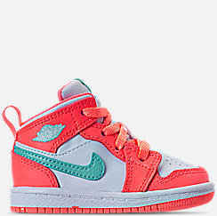 Girls' Toddler Air Jordan 1 Mid Basketball Shoes