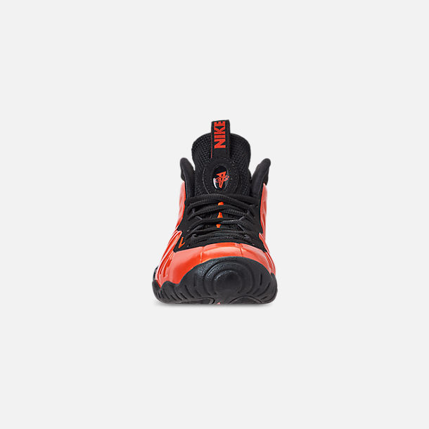 Front view of Big Kids' Nike Little Posite One Basketball Shoes in Habanero Red/Habanero Red/Black