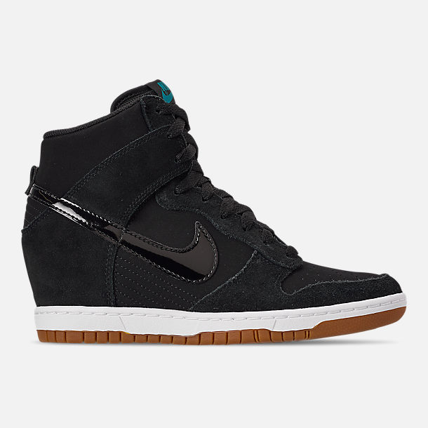 Right view of Women s Nike Dunk Sky High Essential Casual Shoes in  Black Black  00f3bc786