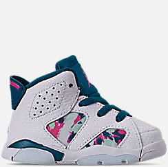 89e6cf2910df50 Girls  Toddler Air Jordan Retro 6 Basketball Shoes