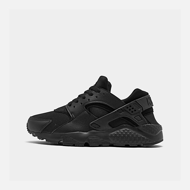 Right view of Big Kids' Nike Huarache Run Casual Shoes in Black/Black/Black