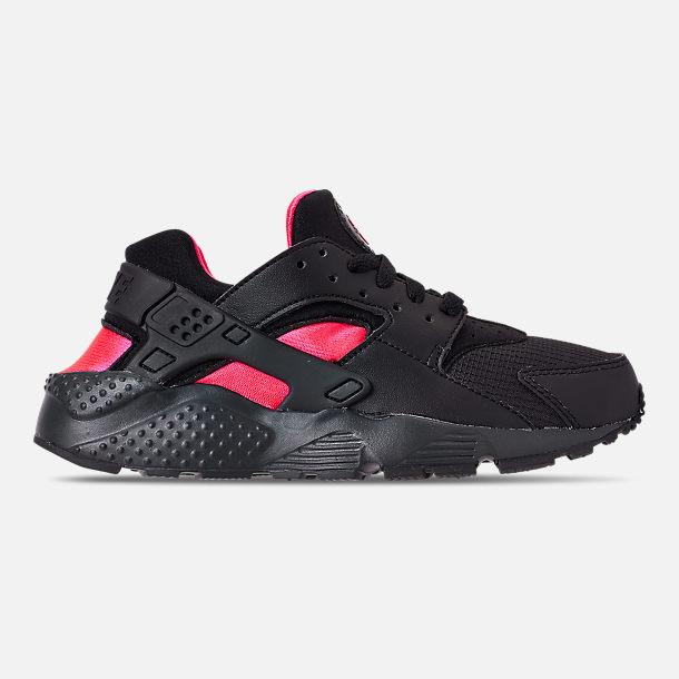 41082b0c45 Right view of Big Kids' Nike Huarache Run Casual Shoes in Black/Anthracite/