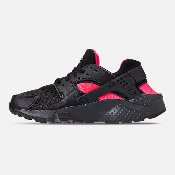 f032b8ca88 Left view of Big Kids' Nike Huarache Run Casual Shoes in Black/Anthracite/