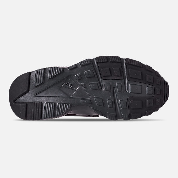 f04d02a008 Bottom view of Big Kids' Nike Huarache Run Casual Shoes in Black/Anthracite/