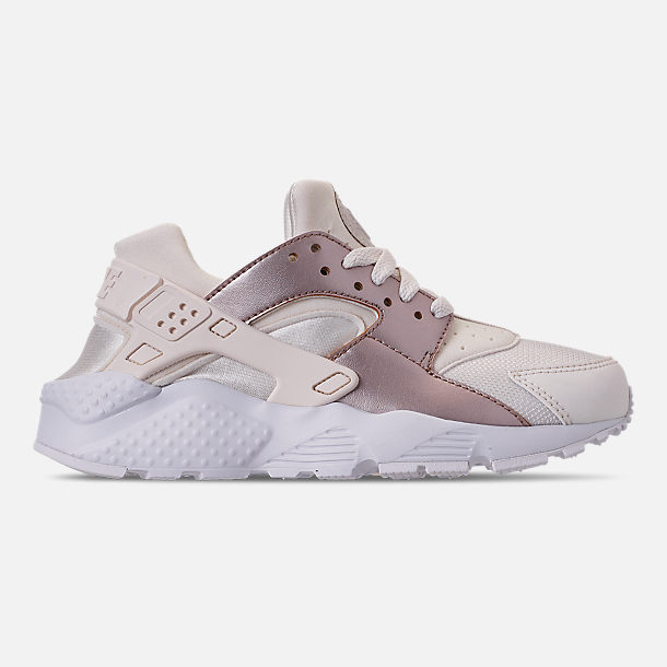 Right view of Girls' Big Kids' Nike Huarache Run Casual Shoes in Phantom/Metallic Red Bronze/White
