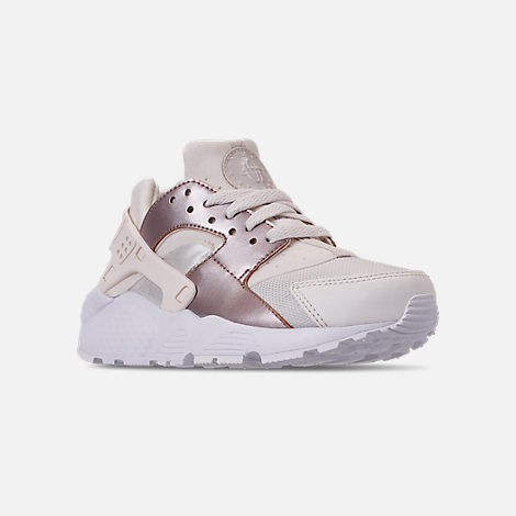 632aed512e Three Quarter view of Girls' Big Kids' Nike Huarache Run Casual Shoes in  Phantom