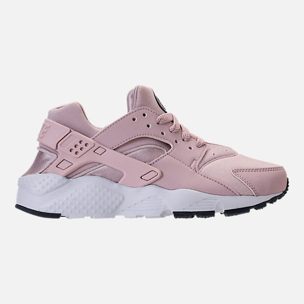 Right view of Girls' Grade School Nike Huarache Run Running Shoes in Particle Rose/Thunder