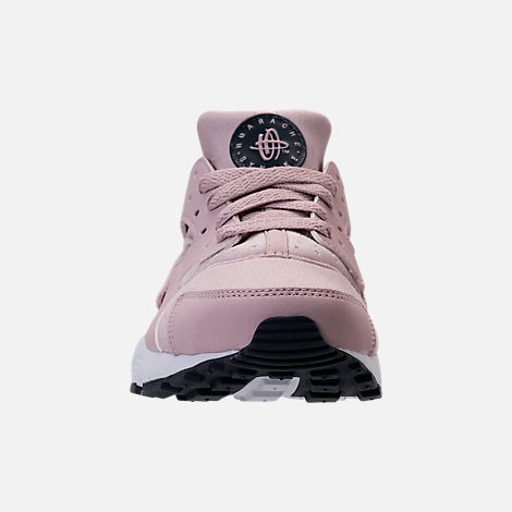 Front view of Girls' Grade School Nike Huarache Run Running Shoes in Particle Rose/Thunder