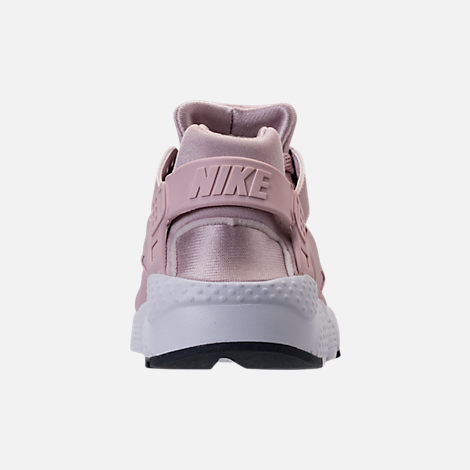 Back view of Girls' Grade School Nike Huarache Run Running Shoes in Particle Rose/Thunder