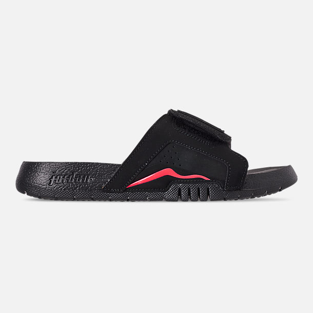 Right view of Boys' Big Kids' Jordan Hydro Retro 6 Slide Sandals in Black/Infrared 23