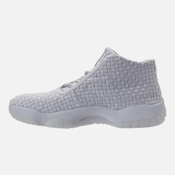 Left view of Men's Air Jordan Future Off-Court Shoes in Pure Platinum