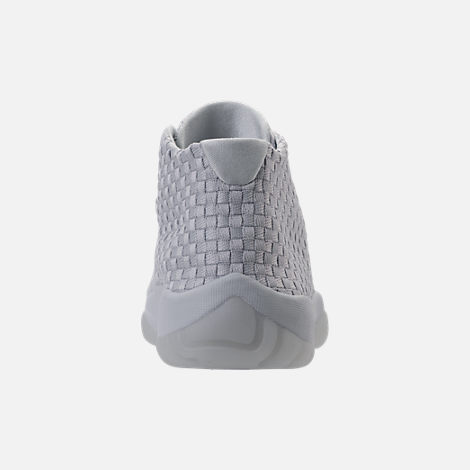 Back view of Men's Air Jordan Future Off-Court Shoes in Pure Platinum