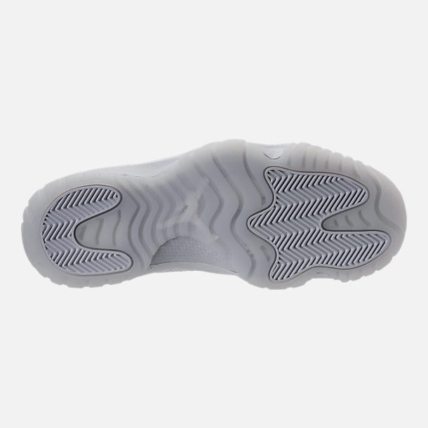 Bottom view of Men's Air Jordan Future Off-Court Shoes in Pure Platinum