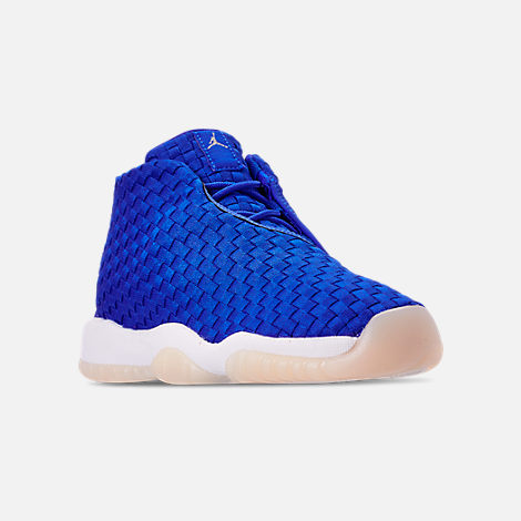 Three Quarter view of Boys' Big Kids' Air Jordan Future Basketball Shoes