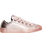 Girls' Preschool Converse Chuck Taylor All Star Ox Leather Metallic Casual Shoes