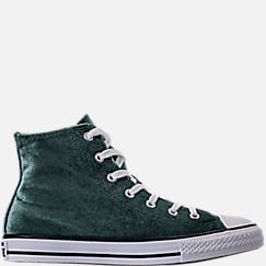 Girls' Grade School Converse Chuck Taylor High Top Velvet Casual Shoes