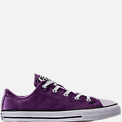 Girls' Grade School Converse Chuck Taylor Ox Velvet Casual Shoes